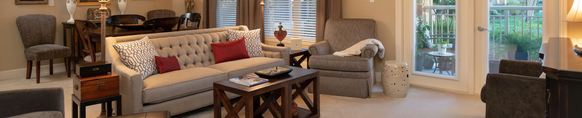full image of living room senior independent living villa