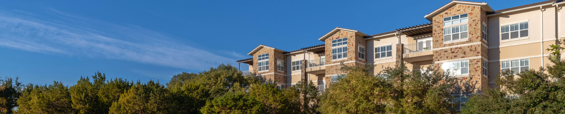 Exterior View of Apartments at Longhorn Village